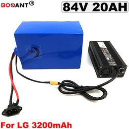 Lg Bikes Australia - 84V 20AH E-bike Lithium Battery for Bafang BBSHD 2000W Motor 84V Electric Bicycle Battery for original LG 18650 with 5A Charger