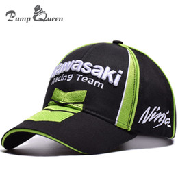 Red White Kawasaki Canada - Pump Queen New 3D Embroidered Hats MOTO GP Motorcycle Baseball Cap F1 Kawasaki Ninja 76 Racing Snapback Hat Rossi Cool Sport Cap