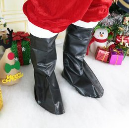Discount woman costume boots - Santa Claus Boot Covers men women Christmas Fancy Dress Costume cospaly Santa Claus Shoe Cover Christmas Decoration LJJK