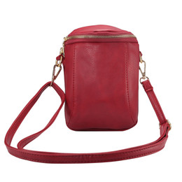 Inch phone wallet case online shopping - Universal inch Small Shoulder Bag Women PU Leather Dual Zipper Pouch Fashion Crossbody Bags for Women Wallet Mobile Phone Bag