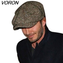 Wholesale VORON Fashion Octagonal Cap Newsboy Beret Hat Autumn And Winter Hats For Men s International Superstar Jason Statham Male Models