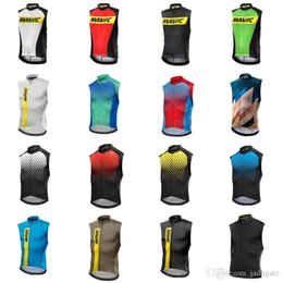Quick Dry Shirts For Men Australia - MAVIC team Cycling Sleeveless jersey Vest summer style quick dry mtb bike sportswear for men D0814