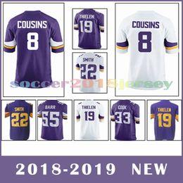 aadd9b57c Men s viking online shopping - 8 Kirk Cousins Minnesota Vikings football  jerseys Adam Thielen Harrison