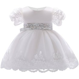 5a55da90f 2018 Baby Girl Dress Lace white Baptism Dresses for Girls 1st year birthday  party wedding Christening baby infant clothing Y18102007