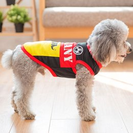 extra large jersey Australia - New Design Fml Pet Clothes Cotton Dog Soccer Jersey Vest New Cotton Breathable Dog Jersey Football Team Costume For Dogs