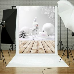 children photo props 2019 - 0.9m x 1.5m 3x5ft Snowman Photography Vinyl Background Christmas Theme Snowman Photographic Backdrops For Studio Photo P