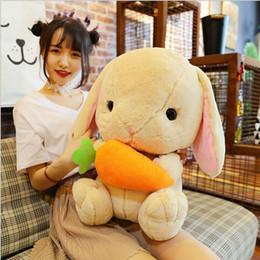 $enCountryForm.capitalKeyWord NZ - Dorimytrader lovely soft cartoon carrot rabbit plush toy stuffed I LOVE YOU bunny doll pillow gift for girls decoration 50cm DY61918