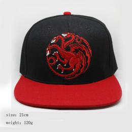 Game Of Thrones House Of Stark targaryen Cap Men Women Unisex Luminous Hat  Adjustable Snapback Baseball Cap Black Cotton be3ca9816ca