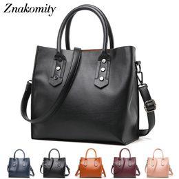 $enCountryForm.capitalKeyWord NZ - Znakomity Vintage leather women's handbag black box Casual tote bag pu purse Top-handle leather hand shoulder bags Bolsos Mujer