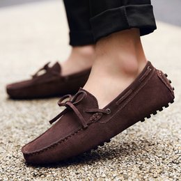 Slip 48 Canada - 2018Fashion Men Slip on Leisure Flat Casual Shoes Male Moccasin Loafers Driving Business Shoes Size 38-48 AK2081