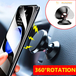 Wholesale Universal Aluminum alloy Air Vent Magnetic Holder Car Mount Dashboard Mount Stand Phone Holder for Smartphones car phone holders