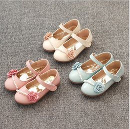 $enCountryForm.capitalKeyWord UK - Girl's shoes 2018 new pearl wild girl Princess shoes flower children beaded single shoe leather