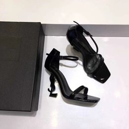 Wholesale 2018 Luxury High Heel Pointed Toe Women Sandals Patent Leather  Brand Dress Wedding Shoes Sexy 952600924be8