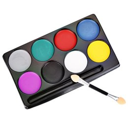 Painting Faces UK - Halloween Party Fashion Flash Tattoo Face Body Paint Oil Painting Art Non-toxic Water Paint Oil Makeup Face Painting Set M2