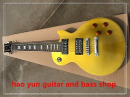 $enCountryForm.capitalKeyWord NZ - gold dust top Free shipping 7 strings electric guitar one piece body and one piece neck fret binding china high quality