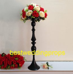 $enCountryForm.capitalKeyWord Australia - Metal back iron chorme Candle Holders Flower Vase Rack Candle Stick Wedding Table Centerpiece Event Road Lead Candle Stands best0172