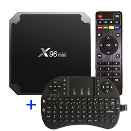 media player Australia - X96 Mini Android 7.1.2 Tv Box Amlogic S905W 1GB 8GB 17.6 Media Player with I8 Wireless Keyboard Fly Air Mouse