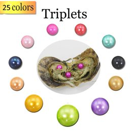 $enCountryForm.capitalKeyWord Australia - 2018 New DIY 6-7mm Triplets Pearl In Freshwater Oyster Shell Materials Jewelry Surprise Gift With Vacuum Package Free Shipping