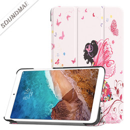 $enCountryForm.capitalKeyWord NZ - Magnetic Smart PU Leather Solid and Colorful Painted Folding Folio Tablet Cover With Auto Sleep Wake Case For Xiaomi Mi pad 4 8.0 OppBag