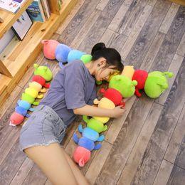 $enCountryForm.capitalKeyWord NZ - 110cm New style Toys Caterpillar Pillow plush Toy soft Down Cotton animal stuffed cushion Creative kawaii Gifts for child