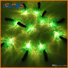 Discount mushroom pendant light - New Novelty 10 LED Coconut Tree Lighting String Party Lamps Led Christmas Lights Garden Pendant Garland