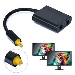 $enCountryForm.capitalKeyWord UK - 2018 High Quality Mini USB Audio Cable Digital Toslink Optical Fiber Audio 1 to 2 Female Splitter Adapter 23CM Mayitr