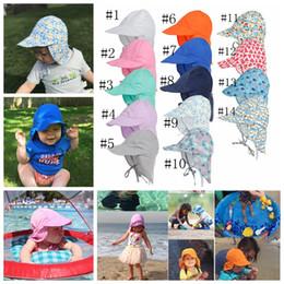 New Summer Newborn Sun Cap Unisex Baby Kids Bucket Hat UV Protection Hat  Outdoor Soft Beach Hat Neck Ear Cover Flap Cap A9922 7476d30c75f1