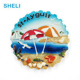 Resin magnets online shopping - Beach Travel Souvenir Scenery vacation D High end Resin Fridge Magnets Gift Refrigerator Magnetic Sticker Home Decoration
