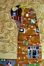 Klimt Paintings Australia - handmade oil canvas oil painting reproduction of famous artist gustave klimt canvas art wholesale art paintings canvas oil painting fine art