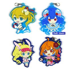Discount japanese phones - ShironekoNewProject white cat project Original Japanese anime figure rubber mobile phone charms keychain strap D206