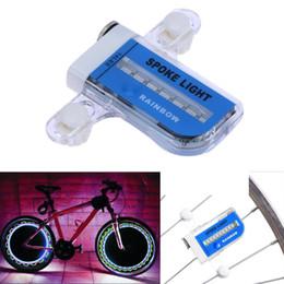 Discount spoke light valve - 14-LED RGB Bike Spoke Light Caution Valve Lamp Blue Sticker Bicycle Wheel Tire Safety Lamp Warning Flashing Light