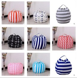 organizer bags wholesale 2019 - Kids Toy Storage Bag Stripe 43 Colors Play Mat Clothes Home Organizer Storage Stuffed Animal Storage Bean Bag Chair Port