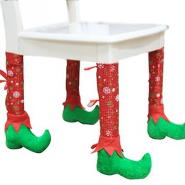 $enCountryForm.capitalKeyWord Canada - New Christmas Table Leg Covers 4pcs set Chair Leg Foot Cover Table Decoration for Party Dinner Christmas
