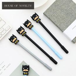 $enCountryForm.capitalKeyWord Australia - 36 Pcs lot Novelty Super Hero Batman Gel Pen Ink Pen Promotional Gifts Stationery School & Office Supply