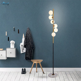 $enCountryForm.capitalKeyWord NZ - Nordic Ball Glass Shade Standing Floor Lamps Modern Living Room Study Bedroom Bedside American Vertical Floor Lights Fixtures