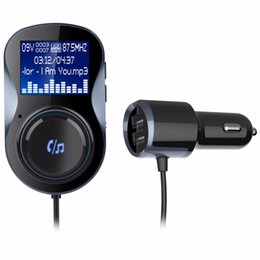 bluetooth car kits for iphone 2019 - Bluetooth Hands-free Car Kit FM Modulator Stereo Audio Car MP3 Player FM Transmitter Support TF Card for iPhone X 8 & An