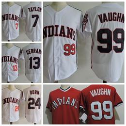 1588fd4ab88 The Major League II Film Jerseys 99 Rick Wild Thing Vaughn 24 Roger Dorn  Vintage 7 Jake Taylor 13 Pedro Cerrano Movie Baseball