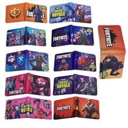 Fortnite Cosplay Подросток Студенческий короткий кошелек с держателем карты Монета карманные игры Кошелек мультфильм игрушки для детей Подарочная сумка