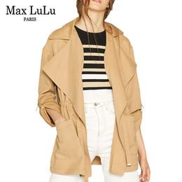7f62d9b928914 Max moda marca europea otoño damas caqui cazadora mujeres Vintage Trench  Coat Casual Roupas ropa femenina más el tamaño