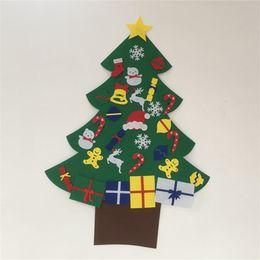 Christmas snowman ornaments online shopping - Elk Snowman Diy Stereo Felt Christmas Tree Door Wall Hanging Ornaments Children Kids Gifts Christmas Decoration wm5 gg
