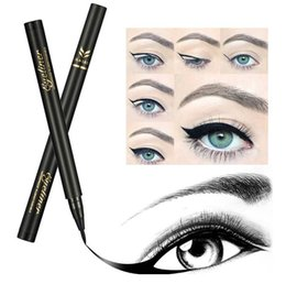 Makeup pen kits online shopping - New Arrival Huamianli PC Eyebrow Glitter Shadow EyeLiner Pencil Pen High Quality Cosmetic Makeup Eye Liner Set Kit Brown
