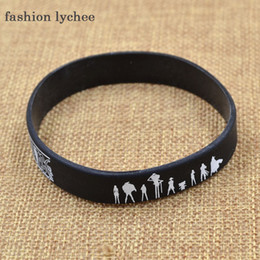 Silicone Figures Australia - fashion lychee Japan Anime Cartoon Figure Printed Silicone racelet Bangle Causal Wristband Cosplay Accessories Gift