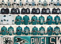 Joe thornton Jerseys online shopping - 2019 New Black San Jose Sharks Hockey Joe Pavelski Evander Kane Joe Thornton Logan Couture Erik Karlsson Brent Burns Jersey