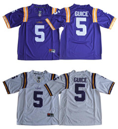 dff00bbc4 Vintage LSU Tigers  5 Derrius Guice Mens College American Football Sports  Pro Team Jerseys Shirts Uniforms Stitched Embroidery On Sale