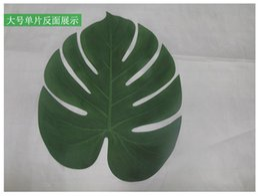 12 pcs Folha Artificial 35x29 cm Folha de Palmeira Tropical Simulação Folha para o Havaiano Luau Tema Decorações Do Partido Para Casa decoração do jardim venda por atacado