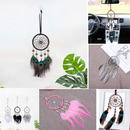 $enCountryForm.capitalKeyWord Australia - Enchanted Forest Dreamcatcher Handmade Dream Catcher Net With Feather Wall Decoration Car Hanging Home Ornament Craft Gift