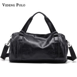 Wholesale Brand Young Men Travel Bag Leather Duffle Tote Vintage Handbags Large Men Business Luggage Bag With Shoulder Strap Crossbody