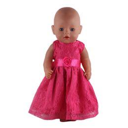 8312dcfdfd64b3e Fleta Baby Born кукла арбуз красный кружева принцесса юбка Fit 43 см Zapf  Baby Born куклы одежда девушка