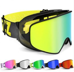 bd532313c349 Ski Goggles 2 in 1 with Magnetic Dual-use Lens for Night Skiing Anti-fog  UV400 Snowboard Goggles Men Women Ski Glasses