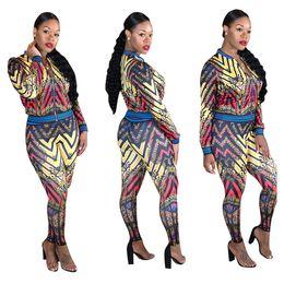 $enCountryForm.capitalKeyWord Canada - 2018 Two Piece Set Party Women Casual tracksuits Crop Top Pencil Pants Set Bodycon Slim Suit Winter Vestidos Fashion Print Club Women Sets